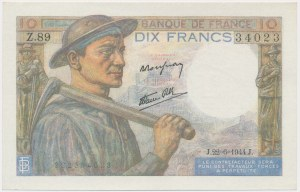 Francja, 10 Francs 1944
