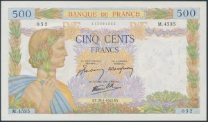 France, 500 Francs 1942