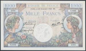France, 1.000 Francs 1940