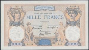 France, 1.000 Francs 1938