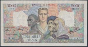 France, 5.000 Francs 1946