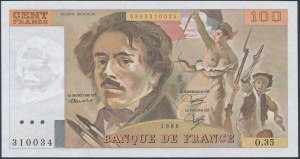 France, 100 Francs 1980
