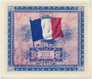 France, Allied Occupation WWII, 2 Francs 1944