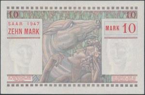 Saar, 10 Mark 1947