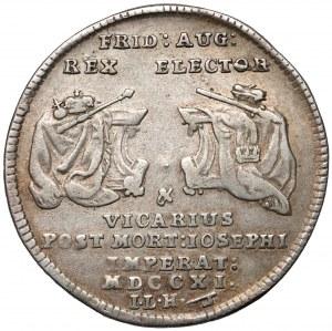 August II Mocny, 1/8 talara wikariacka 1711 - bardzo rzadkia