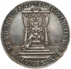 August III Sas, Półtalar wikariacki 1741