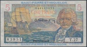 Saint-Pierre & Miquelon, 5 Francs (1950-60)