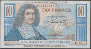 Saint-Pierre & Miquelon, 10 Francs (1950-60)