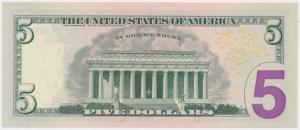 United States, 5 Dollars 2017 - radar number - 53333335