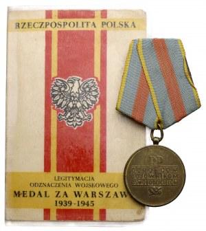 PRL, Medal za Warszawę 1939-1945 + Legitymacja