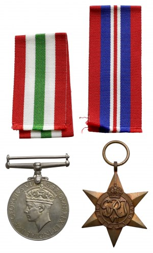 PSZnZ, Gwiazda za Włochy i Medal za II Wojnę Światową (2szt)