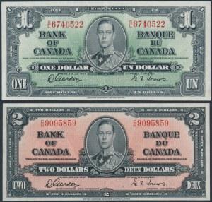 Canada, 1 & 2 Dollars 1937 (2pcs)