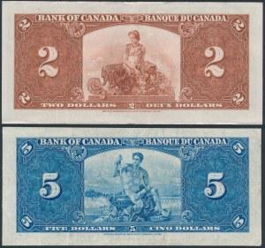 Canada, 2 & 5 Dollars 1937 (2pcs)