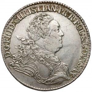 Fryderyk Chrystian, Gulden (2/3 talara) 1763 FWóF, Drezno