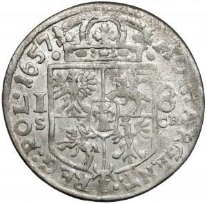 Jan II Kazimierz, Ort Kraków 1657 IT SCH - bardzo ładny