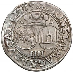 Zygmunt II August, Czworak Wilno 1566 - L/LIT - duża Pogoń