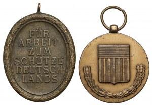 Niemcy, III Rzesza / USA - zestaw (2szt)