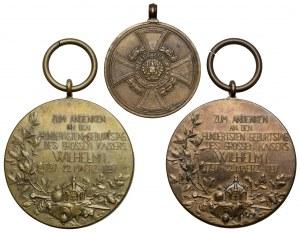 Niemcy, Prusy - zestaw medali (3szt)