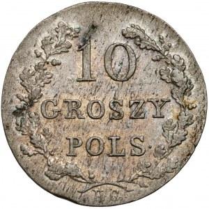 Powstanie Listopadowe, 10 groszy 1831 KG - łapy zgięte