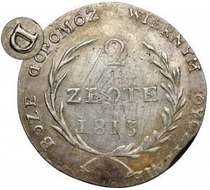 Oblężenie Zamościa, 2 złote 1813 - odwrócone D - b.rzadka