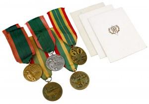 PRL / III RP, Polski Związek Łowiecki, zestaw medali (5szt)