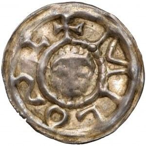 Henryk I Brodaty / II Pobożny, Brakteat ratajski - MILOST (miłość) - b.rzadki