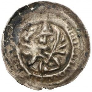 Mieszko III Stary (1173-1202), Brakteat hebrajski - Książę z liściem palmowym