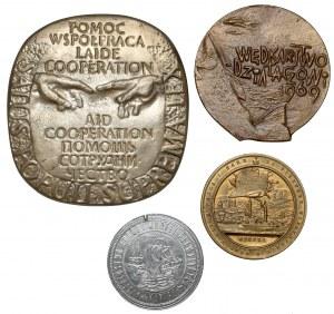 Zestaw medali + odlew medalu Jędrzejowi Zamojskiemu (4szt)