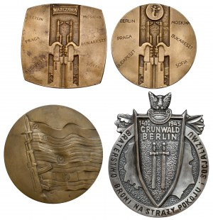 Tematyka wojskowa - zestaw medali (4szt)