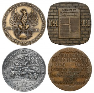 Historia Polski - zestaw medali (4szt)