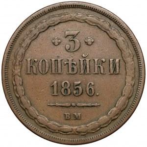 3 kopiejki 1856 BM, Warszawa
