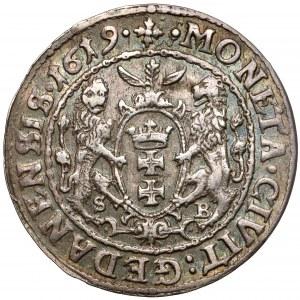 Zygmunt III Waza, Ort Gdańsk 1619 SA SB - tytulatura do korony