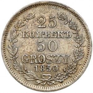 25 kopiejek = 50 groszy 1850 MW, Warszawa - b.ładne
