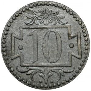 Gdańsk, 10 fenigów 1920 - 60 perełek - piękne