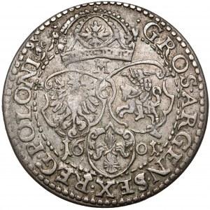 Zygmunt III Waza, Szóstak Malbork 1601-M - rzadki