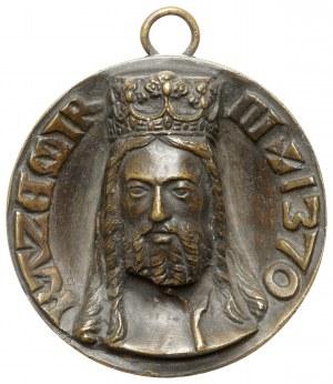 Medalion, Kazimierz III Wielki - XIX w. - efektowny