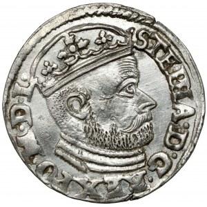 Stefan Batory, Trojak Olkusz 1586 - NH przy herbach - b.ładny