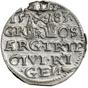 Stefan Batory, Trojak Ryga 1583 - bardzo ładny