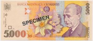 Romania, 5.000 Lei 1998 SPECIMEN