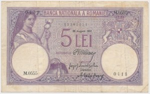 Romania, 5 Lei 1917