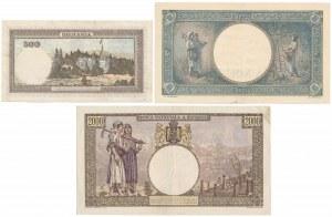 Romania, 500, 1.000 i 2.000 Lei 1941 (3pcs)
