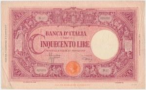 Italy, 500 Lire 1943
