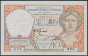 Yugoslavia, 10 Dinara 1926