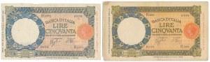 Italy, 50 Lire (1933-43) (2pcs)