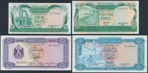 Libia, zestaw banknotów z lat 1972-81 (4szt)