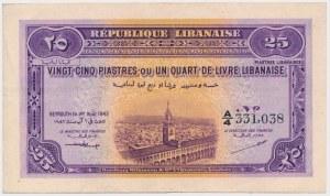 Liban, 25 Piastres 1942