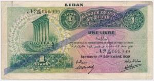 Liban, 1 Livre 1939