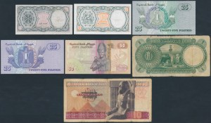 Egypt - lot of 7 banknotes