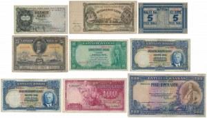 Latvia - lot of 9 banknotes