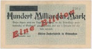 Ottmachau (Otmuchów), 1.000 mld mk PRZEDRUK na 1 bln mk 1923